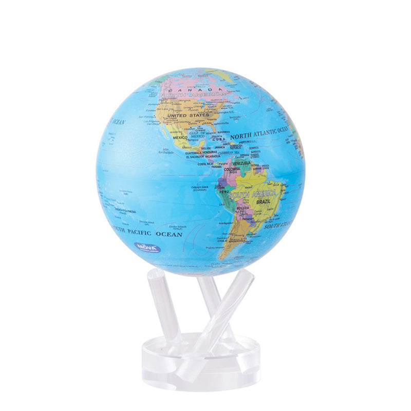 Mova Globe Blue Political Map MG-45-BOE