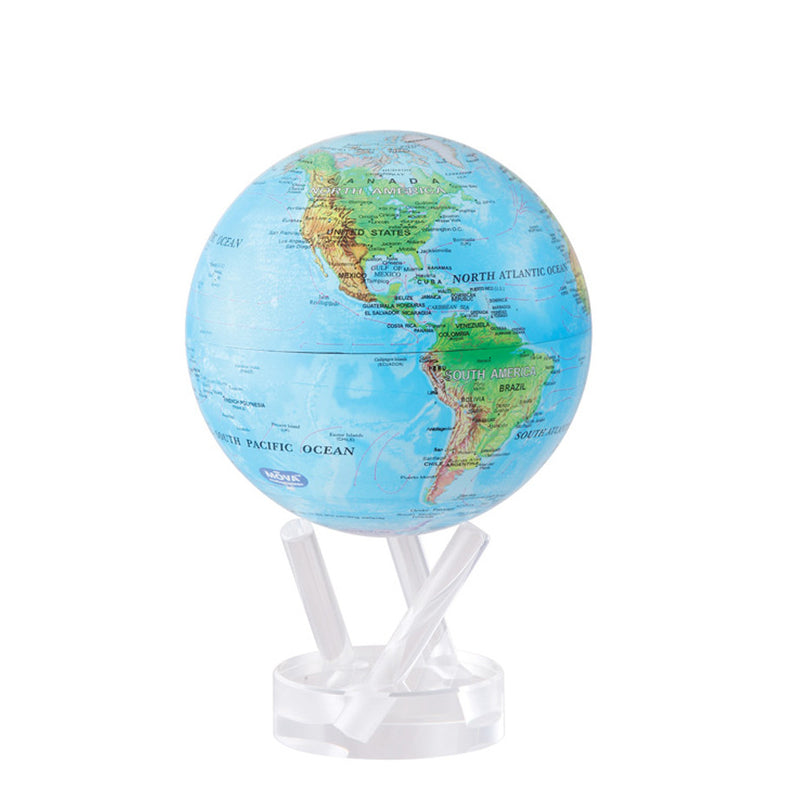 Mova Globe Blue with Relief Map MG-45-RBE
