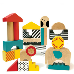 Petit Collage Animal Town Building Blocks WBB-Animal Town
