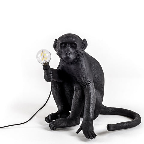 Seletti Monkey Lamp Black Outdoor 14922
