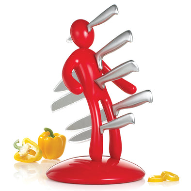 The Ex Knife Block Red