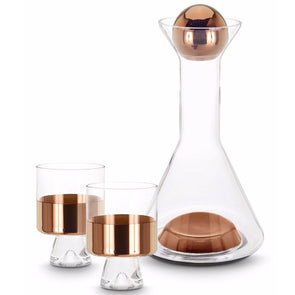 Tom Dixon Tank Wine Decanter Set Copper TKDS02