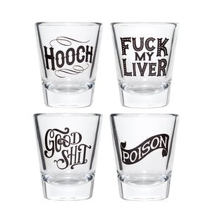 Sloshed Shot Glasses