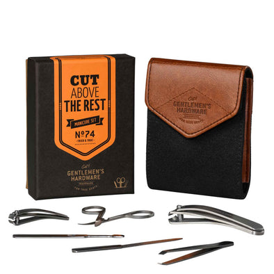 Gentlemen's Hardware Charcoal Manicure Set AGEN074