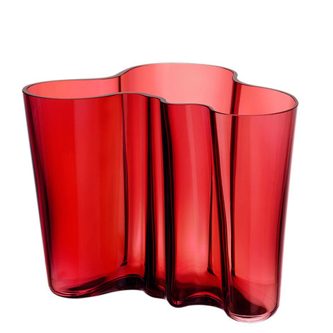 Aalto Collection Finlandia Cranberry Vase