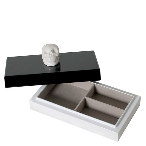 imm Living Oracles Ceramic Skull Lacquer Jewellery Box ALB002