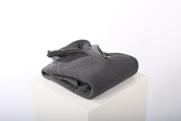Zip jumper heavy cotton grey