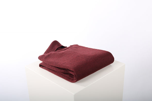 Merino wool turtle neck burgundy