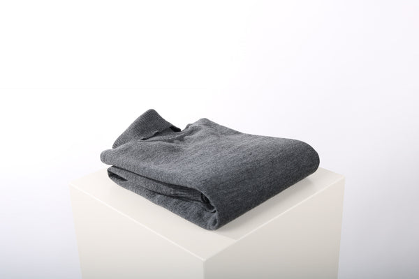 Merino wool turtle neck charcoal