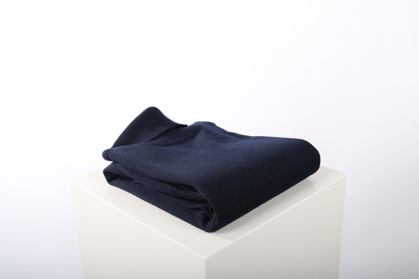 Merino wool turtle neck navy