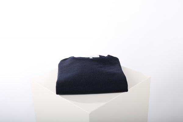 Merino wool crew neck dark blue