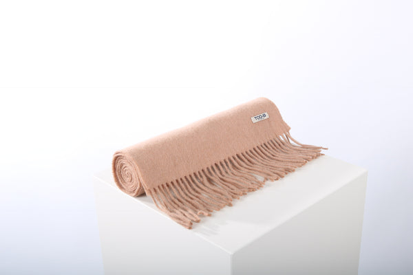 Wool cashmere scarf camel