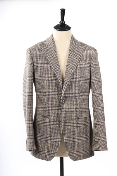 MTO tweed prince of wales jacket brown