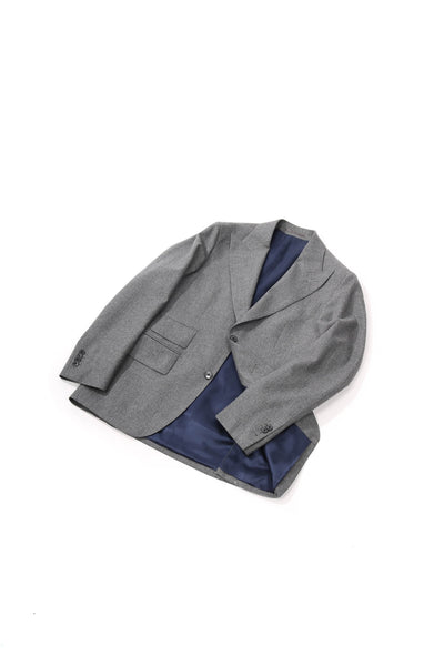 MTO flannel jacket grey
