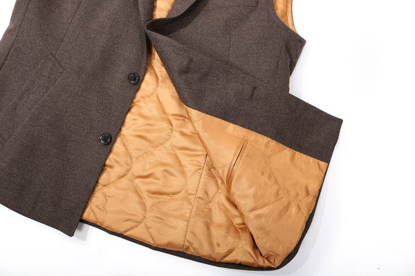 MTO flannel body warmer brown
