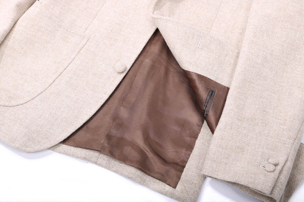 MTO tweed jacket beige