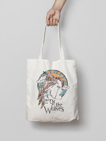 of the wolves canvas tote bag