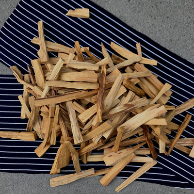 Thin-cut palo santo wood
