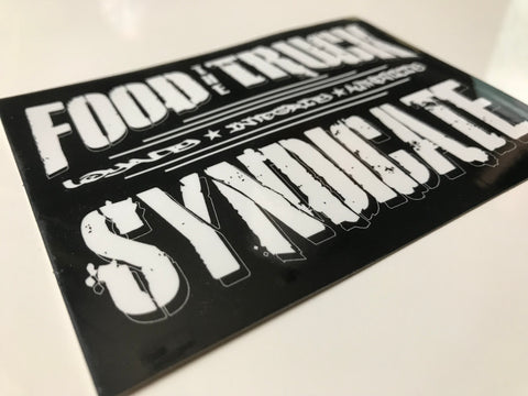 """NEW"" The Food Truck Syndicate Authentics Sticker"