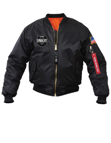 The Food Truck Syndicate - The Syndicate Black No. 1 Bomber Jacket