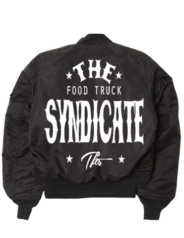 The Food Truck Syndicate - The Syndicate Black No. 1 Tiger Bomber Jacket