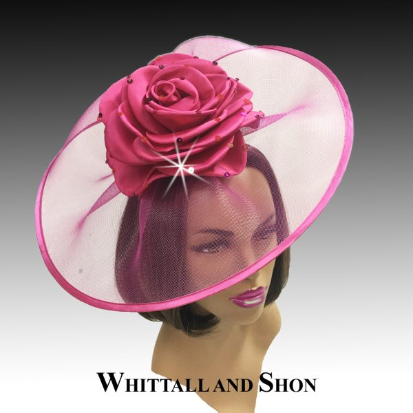 Illusion Headband Fascinator with giant rose