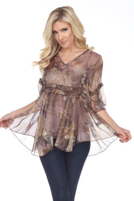 88356 Chiffon Top with Camisole