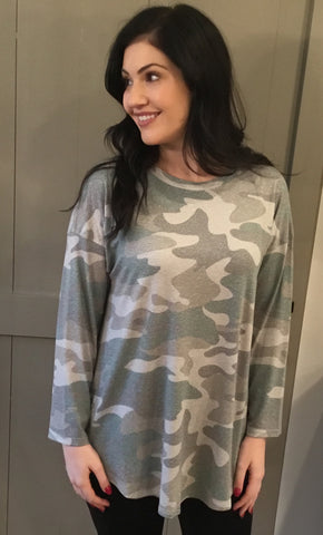Camouflage Long Sleeve Top