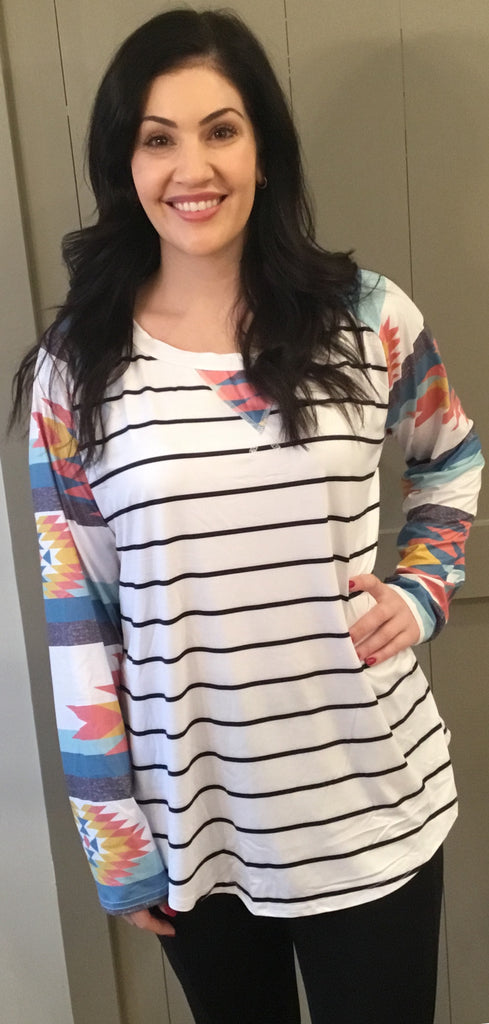 Aztec Striped Top