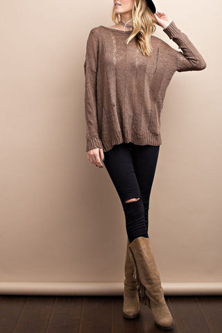 Long Sleeve Knitted Swater Top