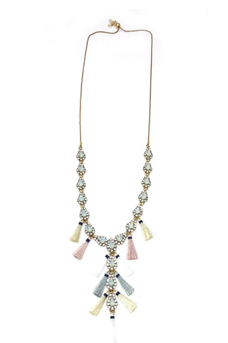 Convertable Long Necklace with Tassel Detail