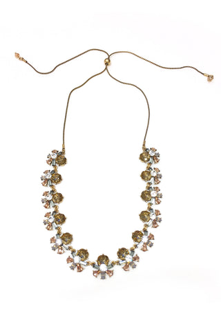 Fashion Topaz Rhinestone Long Necklace