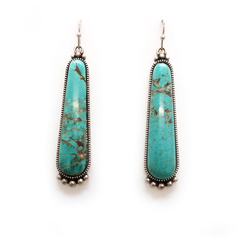 Natural Turquoise Stone Earring