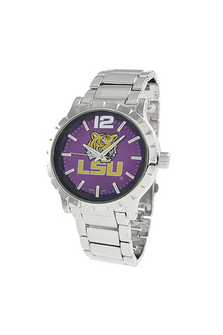 NCAA Officially Licensed LSU Tigers Men's Watch