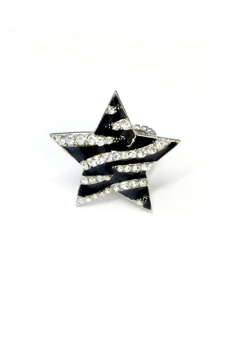 Star Zebra Pattern Stretch band Ring