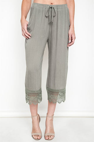 Lace Capri Pants