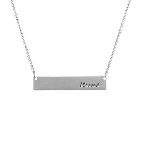Blessed Name Plate Necklace