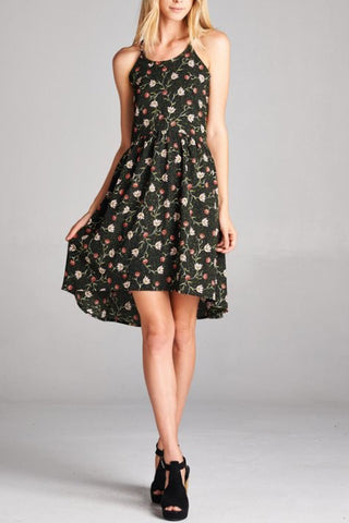 A Loose Floral Baby-doll Dress