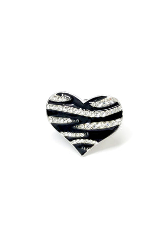 Heart Zebra Stretch band Ring
