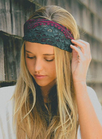Mixed Lace Headband