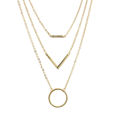 3 Layered of Classic Minimal Jewelry Necklace