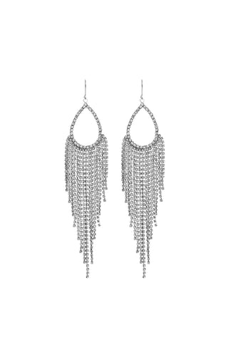 Bridal Clear Rhinestones Dangle Earring