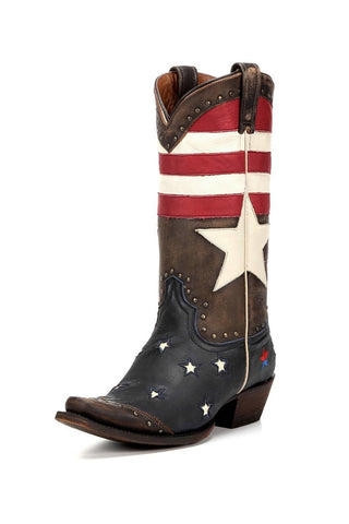 Redneck Riviera Freedom Narrow Square Toe Boots