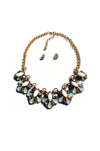 Statement Multi Stone Necklace Set