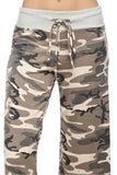 Camouflage French Terry Wide Pants