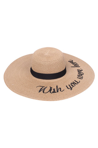 Beach Floppy Hats with Embroidered funny verbiage