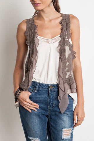Sleeveless Lace Vest