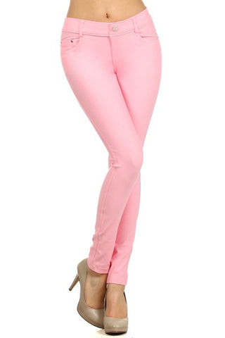 Ladies Light Pink Color Skinny Jegging