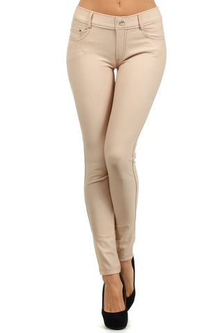 Ladies Camel Color Skinny Jegging
