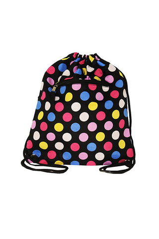 "15"" Drawstring Polka Dots Backpack Bags"